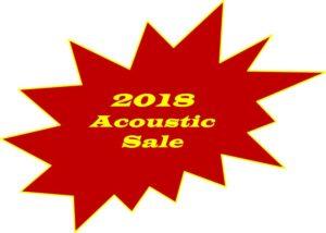 2018 Acoustic Sale Button