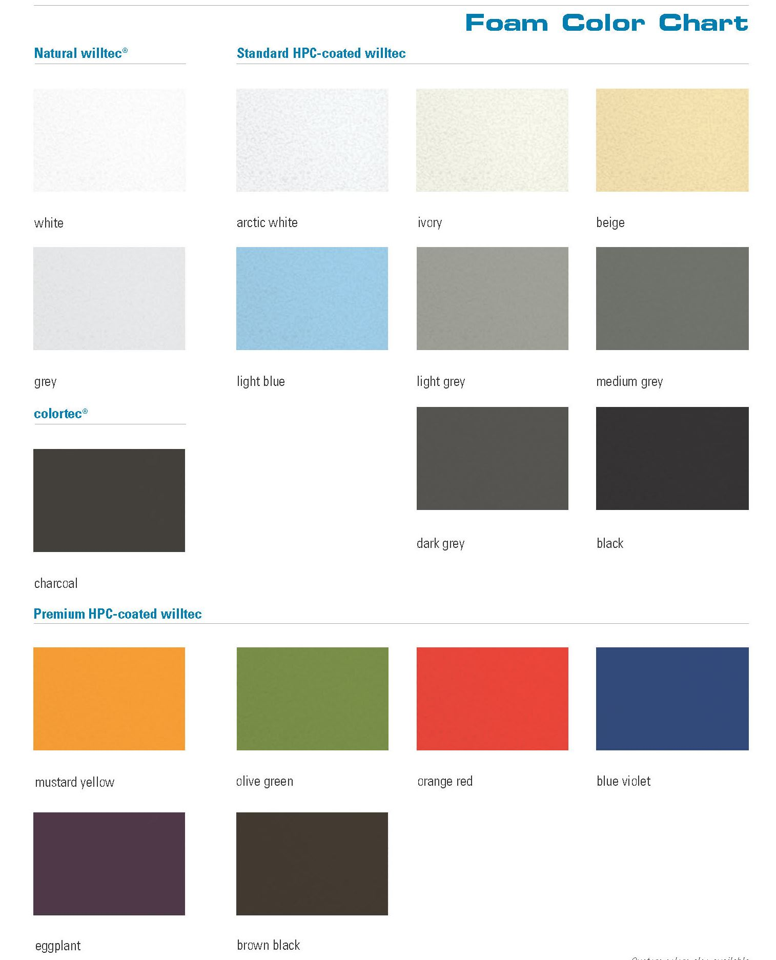 Ivory color chart images galleries for Home room color guide