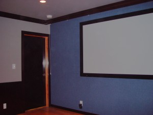 Completed Screen Wall for Hervas Home Theater