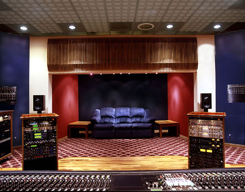 Surprising Rear View Of Control Room For M Pire Recording Studio Steven Largest Home Design Picture Inspirations Pitcheantrous