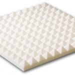 Pyramid Foam in White