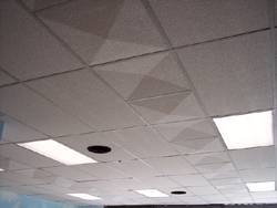 pyramidal ceiling tile design