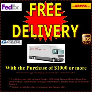 SCR Offers Free Shipping On Qualified Acoustic Products