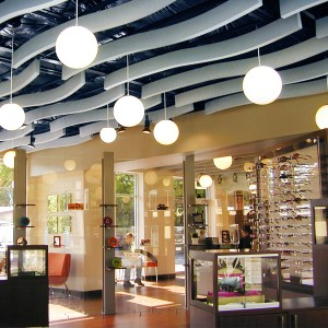 Whisper Wave Ribbon Commercial Space Ceiling Treatment
