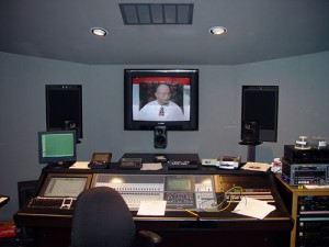 Front View of Control Room for Davis Glick