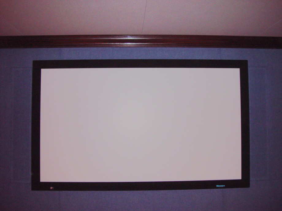 Hervas home theater steven klein s sound control room inc - Home theater screen wall design ...