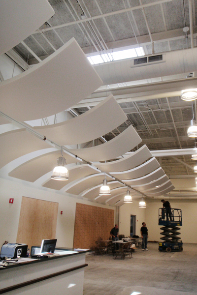 Beautiful Whisper Wave Installation Open Ceiling Area