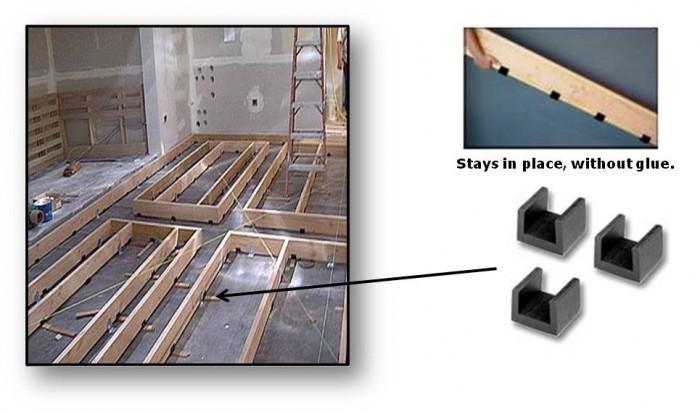 Ideal For Floating Floor Rubber Decoupler